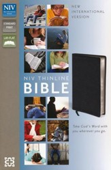 NIV Thinline Bible, Black, Case of 24