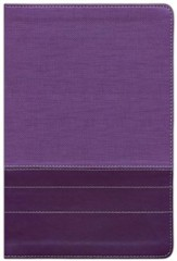 NIV Thinline Large-Print Bible--soft leather-look, purple/plum - Imperfectly Imprinted Bibles