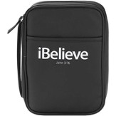 iBelieve Bible Cover, John 3:16, Black, Large