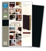 NIV Thinline, Compact, Reference Bible Black
