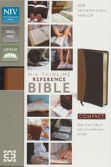 NIV Thinline, Compact, Reference Bible, Tan/Black