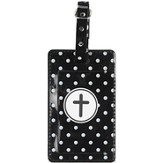 Luggage Tag with Cross, Black