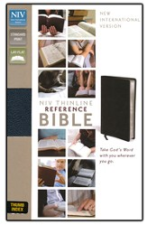 NIV Thinline Reference Bible, Navy, Thumb-Indexed