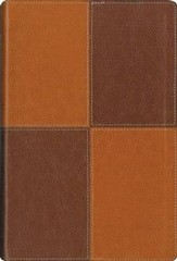 NIV Largeprint, Thinline, Reference Bible Caramel/Chocolate Duo-Tone
