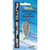 Fish with Believe Auto Emblem, Gold, Medium