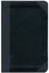 NIV Thinline Bible, Compact, Italian Duo-Tone, Charcoal/Black