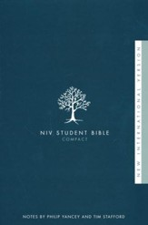 NIV Student Bible, Compact, Softcover  - Slightly Imperfect