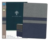 NIV Student Bible, Italian Duo-Tone, Gray/Slate Blue  - Imperfectly Imprinted Bibles