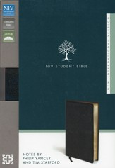NIV Student Bible, Bonded Leather, Black