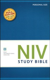 NIV Study Bible, Personal Size, Softcover - Slightly Imperfect