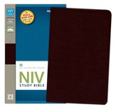 NIV Study Bible, Personal Size, Bonded Leather, Burgundy - Slightly Imperfect