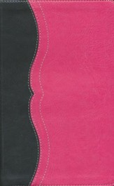 NIV Study Bible, Personal Size, Imitation Leather, Charcoal Pink - Slightly Imperfect