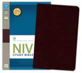NIV Study Bible, Bonded Leather, Burgundy