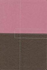 NIV Study Bible, imitation leather, berry creme/chocolate  - Slightly Imperfect