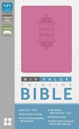 NIV Premium Value Thinline Bible, Imitation Leather, Orchid