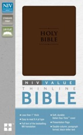 NIV Premium Value Thinline Bible, Imitation Leather, Chocolate