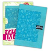 NIV True Images: The Bible for Teen Girls, Italian Duo-Tone, Blue - Imperfectly Imprinted Bibles