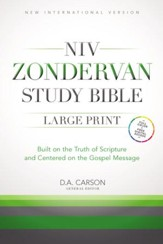 NIV Zondervan Study Bible, Large-Print; Hardcover  - Slightly Imperfect