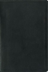 NIV Zondervan Study Bible--premium leather, ebony - Imperfectly Imprinted Bibles
