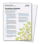 Vocabulary Their Way: Routine Cards Package Grade 8