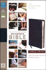 NIV Thinline Reference Bible, Large Print,  Bonded Leather, Navy