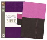KJV, Thinline Bible, Italian Duo-Tone, Orchid/Chocolate - Slightly Imperfect