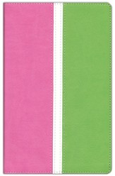 KJV Busy Mom's Bible, Italian Duo-Tone, Pink/Spring   Green