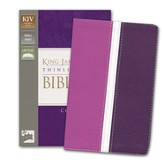 KJV, Thinline Bible Compact, Italian Duo-Tone, Dark Orchid/Deep Plum