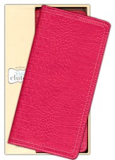 NIV Clutch Bible, Raspberry Leather-look
