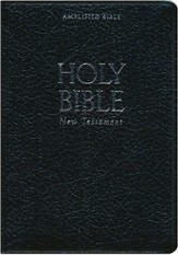 Amplified Pocket-Thin New Testament, Bonded Leather, Black