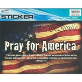 Pray for America Auto Window Sticker