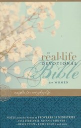 NIV Real-Life Devotional Bible for Women: Insights for Everyday Life, Hardcover, Jacketed Printed - Slightly Imperfect