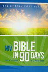 NIV Bible in 90 Days, softcover - Slightly Imperfect
