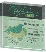 Mothers Love Glass Block