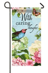 With Caring Thoughts Mini Flag