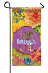 Live, Laugh, Love Mini Flag
