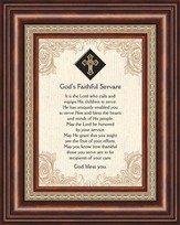 God's Faithful Servant, Framed Print