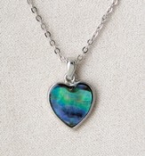 Framed Heart Necklace, Wild Pearle
