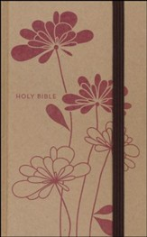 NIV Thinline Craft Collection Bible, Hardcover, Red Blossoms