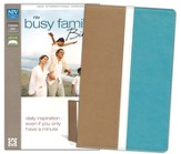 NIV Busy Family Bible: Daily Inspiration Even If You Only Have a Minute, Italian Duo-Tone, Camel/Turquoise - Slightly Imperfect