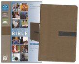 NIV Thinline Bible, Compact, Italian Duo-Tone, Dark Taupe/Graphite