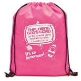 Exploring God's Word, Drawstring Backpack, Pink
