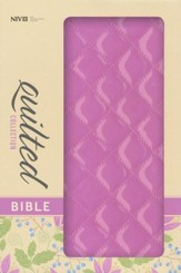 NIV Thinline Quilted Collection Bible, Italian Duo-Tone, Strawberry Cream - Slightly Imperfect