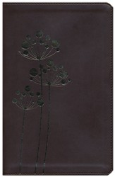 NIV Flora and Fauna Collection Bible, Italian Duo-Tone, Chocolate/Copper Flowers