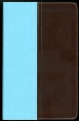 NIV and The Message Side-by-Side Bible, Personal Size: Two Bible Versions Together for Study and Comparison, Italian Duo-Tone, Turquoise/Chocolate - Imperfectly Imprinted Bibles