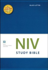 NIV Study Bible, Black Lettered  - Slightly Imperfect