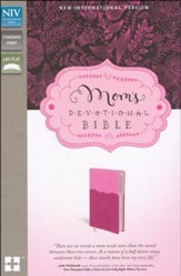NIV Mom's Devotional Bible, Italian Duo-Tone, Pink/Hot Pink - Slightly Imperfect
