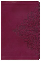 NIV Thinline Bible, Large Print, Italian Duo-Tone, Cranberry
