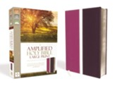 Amplified Large-Print Bible Soft Leather-Look Dark Orchid/Deep Plum