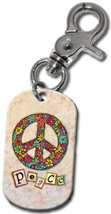 Peace Clip-On Key Ring